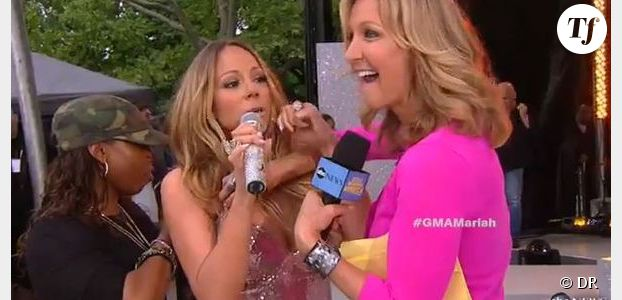 Mariah Carey : sa robe Versace craque en direct à la télévision - Video