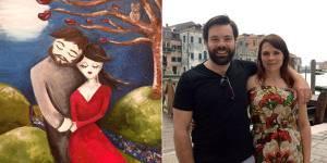 Elle peint l'homme de ses rêves et le rencontre deux mois plus tard