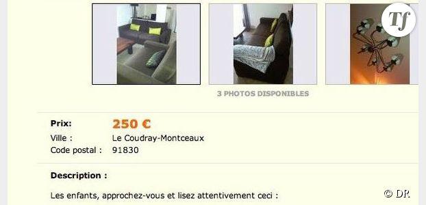 Le Bon Coin : une annonce hilarante pour vendre des canapés