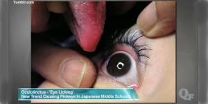 """L'""""eyeball licking"""", la nouvelle pratique sexuelle venue du Japon - vidéo"""