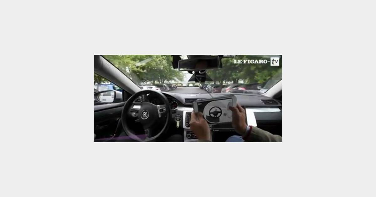 conduire sa voiture avec un ipad comme dans un jeu vid o. Black Bedroom Furniture Sets. Home Design Ideas