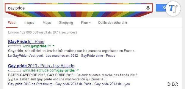 Gay Pride 2013 : Google se met aux couleurs du défilé