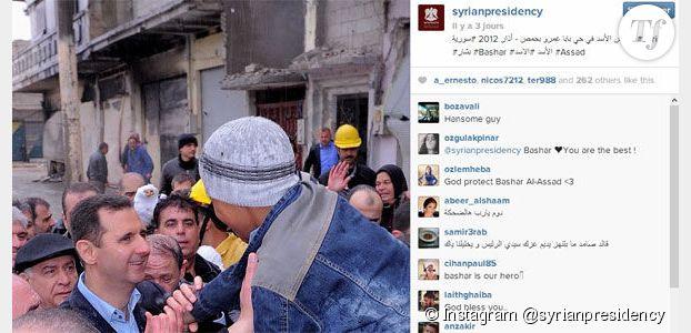 Syrie: Bachar al-Assad fait sa propagande sur Instagram