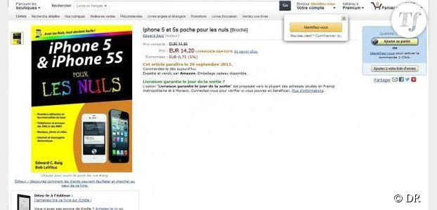 Iphone 5S : sa date de sortie dévoilée par Amazon?