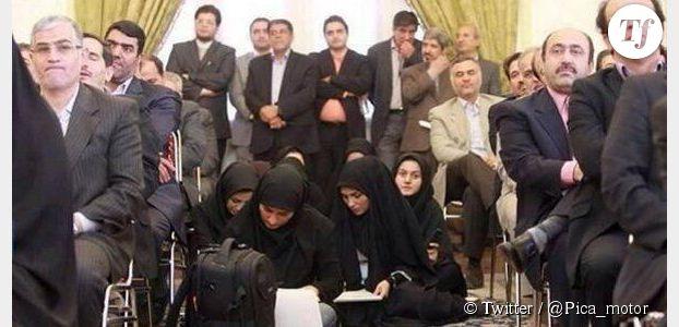Iran : des photos de femmes journalistes travaillant par terre choquent Twitter