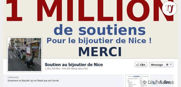 Bijoutier de Nice : qui est l'auteur de la page Facebook de soutien ?