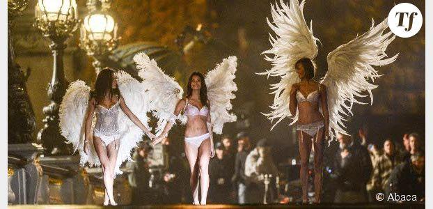 Victoria's Secret : lingerie sexy et ailes d'ange sur le pont Alexandre III - photos