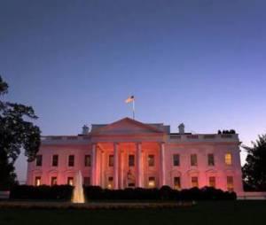 Cancer du sein : la Maison Blanche repeinte en rose