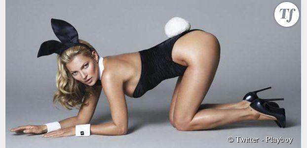 Kate Moss : ses premières photos en lapine pour Playboy
