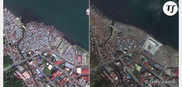 Philippines : l'avant-après typhon Haiyan en photos