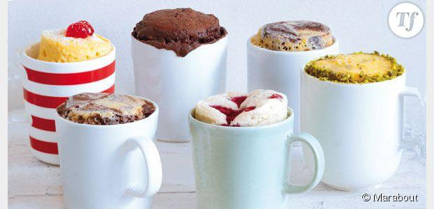 Mug cake recette au chocolat blanc du g teau au micro ondes terrafemina - Gateau dans une tasse ...