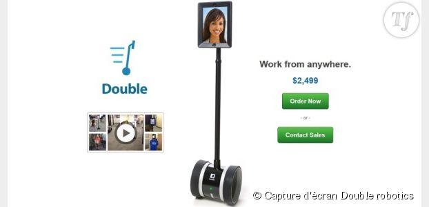 Avec le robot Double, télétravaillez tout en étant au bureau