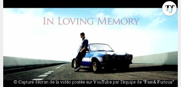 """Paul Walker : l'équipe de """"Fast & Furious 7"""" lui rend hommage en vidéo"""