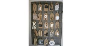 Noël 2013 : fabriquer un calendrier de l'avent esprit brocante - DIY
