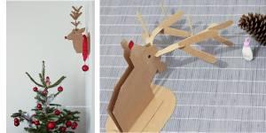 Déco de Noël : fabriquer une tête de cerf en carton très tendance - DIY