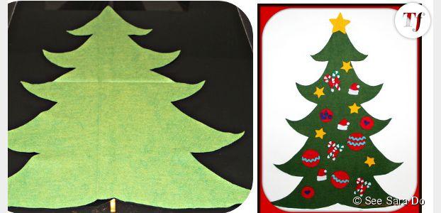 11b88ac5b1abc Déco de Noël   fabriquer un sapin en feutrine avec les enfants – DIY ...