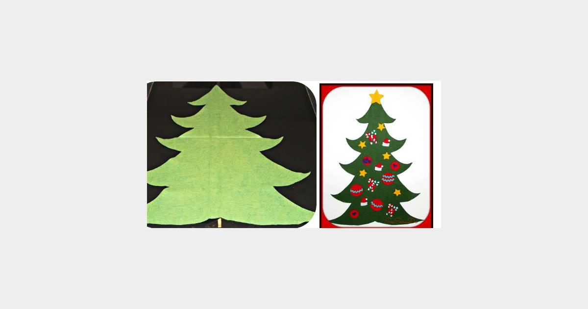 2bd94092fecc8 Déco de Noël   fabriquer un sapin en feutrine avec les enfants – DIY -  Terrafemina