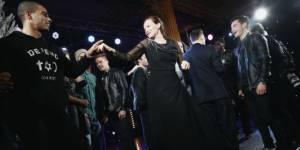 Valérie Trierweiler et Brahim Zaibat : leur démo de danse pour le Noël de l'Elysée - vidéo