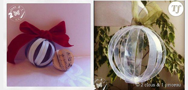 comment fabriquer des boules de no l partir de. Black Bedroom Furniture Sets. Home Design Ideas