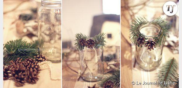 Déco de table : fabriquer un photophore élégant pour Noël – DIY