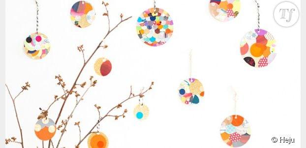 Diy fabriquer des boules en papier pour une d coration - Fabriquer boule de noel en papier ...