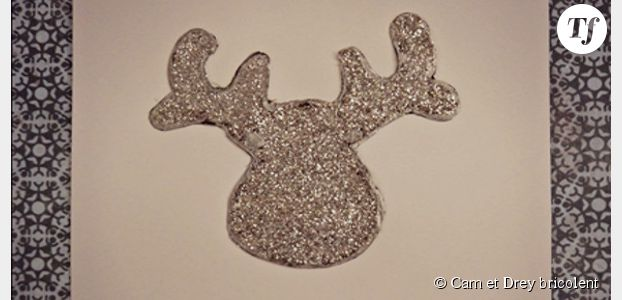 Comment fabriquer une carte de vœux avec une tête de cerf ?