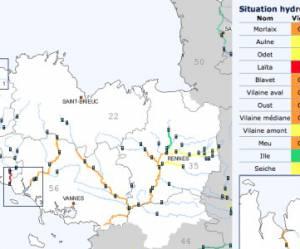 Inondations: Météo France repasse le Finistère en alerte rouge