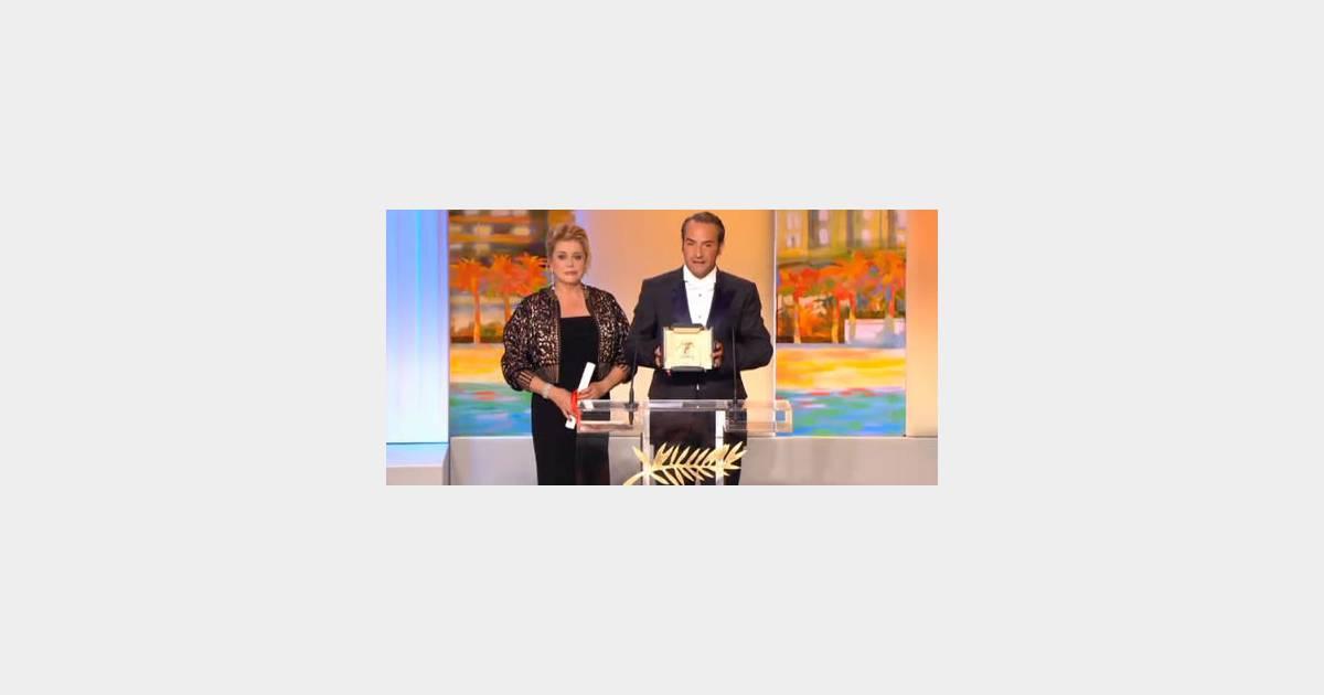 Jean dujardin triomphe cannes for Dujardin film muet