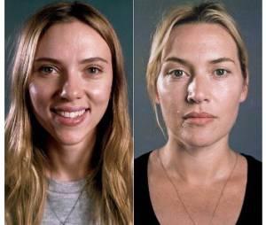 Scarlett Johansson et Kate Winslet sans maquillage et sans brushing – photos