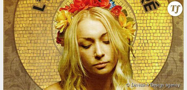 Femen : Inna en vierge Marie contre le retrait du projet de loi sur la famille