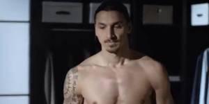 Zlatan Ibrahimovic torse nu dans une publicité