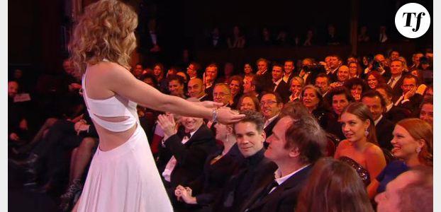 César 2014 : la robe de Cécile de France, sexy ou Sloggi ?