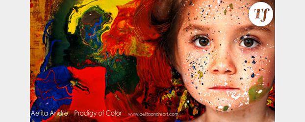 Aelita Andre : à 4 ans, elle expose ses peintures à New York