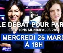 Municipales 2014 : débat Anne Hidalgo vs NKM en direct streaming / replay