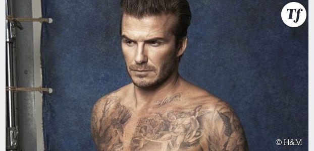 H&M : David Beckham pose en slip de bain pour la marque