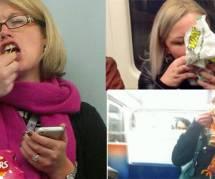 Des photos volés de femmes mangeant dans le métro londonien : art ou sexisme ?