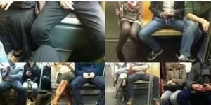 Messieurs, veuillez serrer les jambes dans le métro