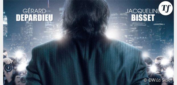 Welcome To New York : DSK / Depardieu menottes aux poignets sur l'affiche