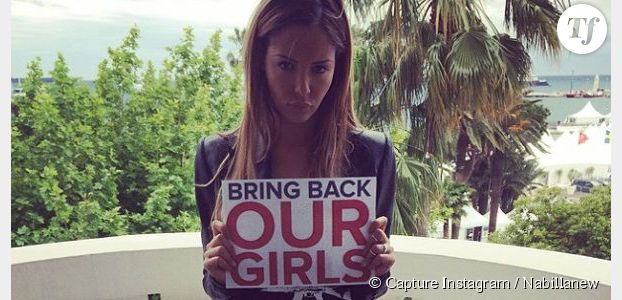 Nabilla soutient le mouvement Bring Back Our Girls