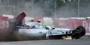 Grand Prix du Canada : revoir le crash de Massa et Perez (vidéo)
