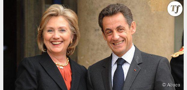 """Nicolas Sarkozy n'est jamais calme et adore """"les potins"""" selon Hillary Clinton"""