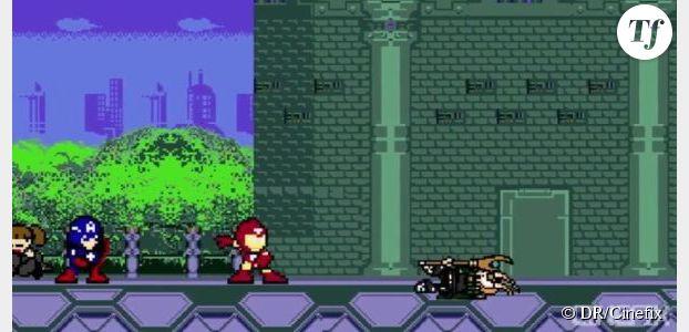Avengers transformé en jeu vidéo 8-bits dans une vidéo