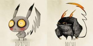 Quand les Pokémon se transforment en personnages de Tim Burton