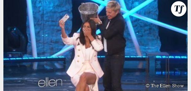 Ice Bucket Challenge : Kim Kardashian se mouille (vidéo)