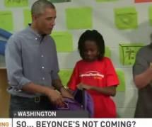Une jeune fille déçue de la visite de Barack Obama au lieu de Beyoncé ? - en vidéo