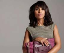 Kerry Washington : un sac pourpre contre les violences conjugales
