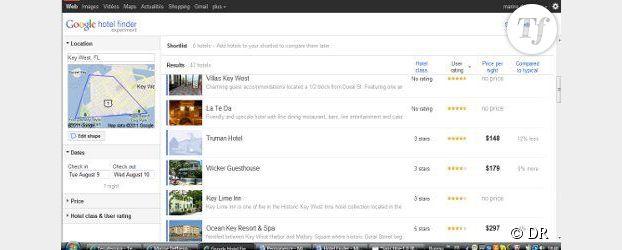 Hotel Finder : le comparateur d'hôtels par Google