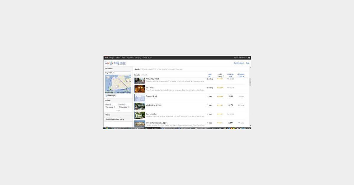 Hotel finder le comparateur d h tels par google for Site de comparateur hotel
