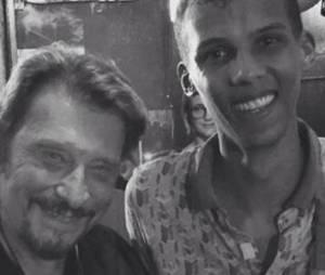 Johnny Hallyday et sa famille sont sous le charme de Stromae