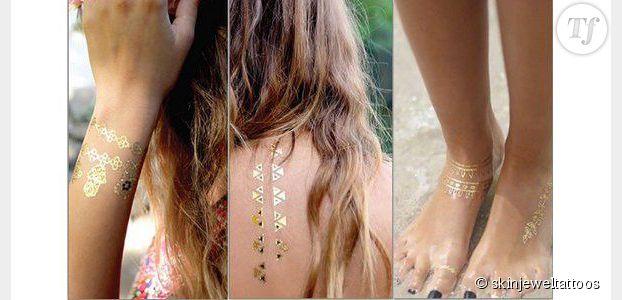 Skin jewels : où trouver des tatouages éphémères dorés ou argentés ?